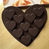 rongweiwang Romantisches Liebes Silikon Formen Silica-Silikon-Herz-Schokoladen-Formen Gel...