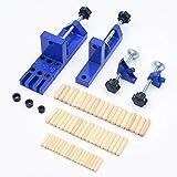 Pocket Locher Jig Locher Handheld Holzbearbeitung Jig Bohrhilfe Werkzeug Bohrer Bohrer Locher Locher...