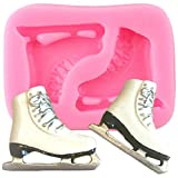 FGHHT Wide Ice Skates Silicone Molds DIY Shoes Cake Fondant Mold DIY Cake Decorating Tools Candy...