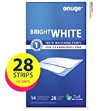 Onuge Bright White Teeth Whitening Strips – Bleaching-Strips zur Zahnaufhellung – Ohne Peroxid...