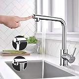 Küchenarmatur, Dalmo DBKF02KY hochwertige ausziehbare Spültischarmatur, drehbarer 360°-Wasserhahn...