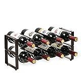 LC&TEAM Weinregal 8 Flaschen Wein Regal stapelbar Metall Weinflaschenhalter, Weinflaschen Regal...