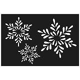 Artemio Plastikschablone - Schneeflocken