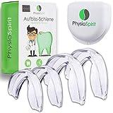 PhysioSpirit PREMIUM Aufbissschiene - Zahnschiene gegen Zähneknirschen - Zahnschutz, Beißschiene...