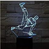 Street Dance Led Usb 3D Nachtlichter 7 Farben Led 3D Lampe Dekoration Lichter Hip-Hop Kultur...