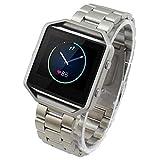 DHDHWL Uhrenarmbänder for Fitbit Blaze Smart Watch Edelstahl-Armband-Bügel-Uhrenarmband Silber