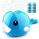 Baztoy Seifenblasenmaschine mit 2 Flüssigkeit für Kinder Junge Mädchen Seifenblasen Spielzeug...