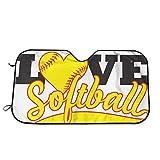 KDU Fashion Live Love Softball Windschutzscheibe Sonnenschutz, einzigartige Auto Windschutzscheibe...