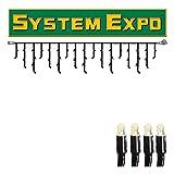 System Expo - Lichtervorhang - koppelbar - exkl. Stecker - 3,00 x 0,40m - 50x Warmweiß
