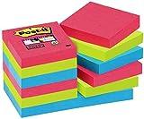Post-it, Farbige Haftnotizen, 12er Pack Sticky Notes, Bunte Klebezettel und Haftnotizzettel,...