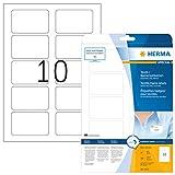 HERMA 4412 Namensetiketten DIN A4 ablsbar (80 x 50 mm, 25 Blatt, Acetatseide) selbstklebend,...
