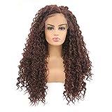 ZHANGYAN Schöne gewellte Lange Haare natürliche Welle lockige Wellen-natürliche Farben Lange...