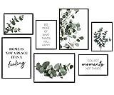 Hyggelig Home Premium Poster Set - 7 passende Bilder im stilvollen Set als Wohnzimmer Deko - Collage...
