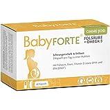 BabyFORTE® Folsäure OHNE JOD + Omega-3 – 16 Nährstoffe + DHA EPA Schwangerschaft Vitamine ohne...