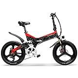 LANKELEISI G650 50,8 cm Faltbares E-Bike 400 W 48 V 10,4 Ah / 12,8 Ah / 14,5 Ah Li-Ion Akku 5 Stufen...