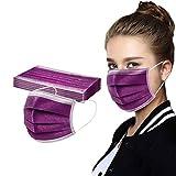 50 Stück Mundschutz Einweg mit Motiv Weihnachten Bunt, Mund und Nasen_Schutz, Atmungsaktiv Gesicht...