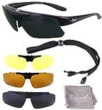 Rapid Eyewear Brille: 'Innovation Plus' UV400 Rx POLARISIERTE Sport Sonnenbrille Rahmen FÜR...