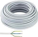 Elektro Kabel Mantelleitung NYM-J 3x1,5mm² Kabel | 50m Ring, 3 adriges Installationskabel...