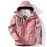BEYONDTIME Damen Jacke Outdoor-Jacke Plus Samt Warme Jacke Abnehmbare Winddichtes Berg Anzug Pink-M