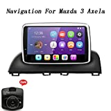 XBRMMM Auto Stereo Bluetooth Radio GPS Navigation Head Unit Fr Mazda 3 Axela 2014 2015 2016 2017 Mit...