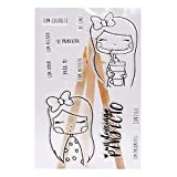 Tubicu Cute Drink Girl Cartoon Silikon Siegelstempel DIY Scrapbooking Foto Album Dekoration