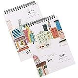 TOYANDONA 2 STK. A4 Skizzenbuch Spiralgebundener Skizzenblock Zeichenpapier Graffiti-Notizbuch für...