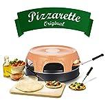 Emerio Pizzaofen, PIZZARETTE das Original, handgemachte Terracotta Tonhaube, patentiertes Design,...