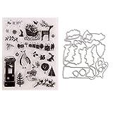 Kafen Weihnachten Silikon Clear Seal Stempel DIY Scrapbooking Prägung Foto Album Karte Papier Deko...