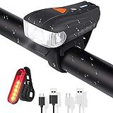 ELEHOT Fahrradbeleuchtung Set USB Automatische Lichteinstellung IPX6 Wasserdicht Fahrradlichte Set...