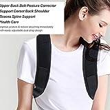 FashionWallA Einstellbare Rückenhaltung Korrektor Klammer Stützgürtel Rücken Schulter...
