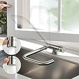 CECIPA Wasserhahn Küche für Spülbecken,360° Falten Drehbar unterfenster...