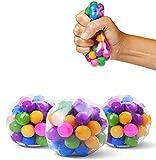 Knowooh Antistress-Bälle, 3 Stück Stressabbaukugeln Spielzeugball Zappelspielzeug für Kinder und...
