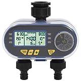 vidaXL Bewässerungstimer mit Doppelauslass Automatisch Digital Bewässerungsuhr Bewässerung Uhr...