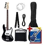 Rocktile Groover's Pack JB E-Bass Komplettset Schwarz (Verstärker, Tasche, Kabel, Gurt,...