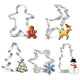 Joyoldelf Weihnachten Ausstecher Set, 5pcs Weihnachten Ausstechformen Keks Ausstechform von...
