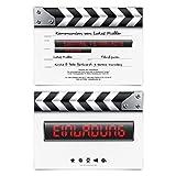 10 x Kommunion Einladungskarten individueller Text DIN A6 - Filmklappe