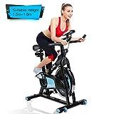 alvorog Indoor Fitness Fahrrad Heimtrainer Cycle Indoorcycling Bike mit LCD Monitor, Fahrradtrainer,...