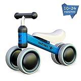 XIAPIA Kinder Laufrad Spielzeug fr 10 - 24 Monate Baby, Lauflernrad mit 4 Rder, Erst Rutschrad...