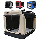 Hundetransportbox faltbar Transportbox für Hunde Hundebox Auto - Dogi Kennel - 6 Größen - 4...