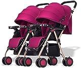 DAGCOT Baby-Kinderwagen Tragbare und leichte Spaziergänger Twin Kinderwagen, abnehmbare Kombination...