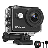 GOOKAM Action Cam 4K 60FPS 20MP WiFi Actionkamera 40M Unterwasserkamera EIS Sportkamera mit Externem...