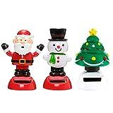 Auplew Weihnachten Solar Tanzen Spielzeug Bobblehead Spielzeug Tanzen Figur Spielzeugauto...
