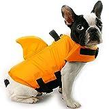 HanDingSM Hundeschwimmweste,Haustier-Schwimmweste,Rettungswesten für Hunde, Hunde Shark Pattern...