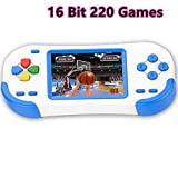 Bornkid 16 Bit Handheld Spielekonsole fr Kinder und Erwachsene mit Integriertem 220 HD Videospiel...