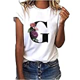 Plus Size Damen T-Shirt Kurzarm Pullover Mode Print V-Ausschnitt lässig lose Lange Bluse Junges...