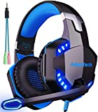 Gaming Headset für PS4 PC Xbox One mit Mikrofon, Over Ear Stereo Sound Gamer Kopfhörer PS4 with...