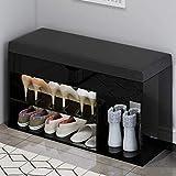 Entryway Schuhe Shelf Non-Woven Schuhablage BoHome Deco (Color : Black, Size : 42x80x30cm)