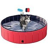 Yaheetech Faltbarer Hundepool für Haustiere, Welpen, Badewanne, Dusche, für drinnen und draußen,...