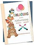 the lazy panda card company Set: 15 Einladungskarten Kindergeburtstag: Tiere Geburtstagseinladungen...
