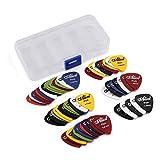 60 Stück Plektren Plektrum Guitar Picks - - Mix von Größen 0.58/0.71/0.81/0.96/1.20/1.50 (mm) -...